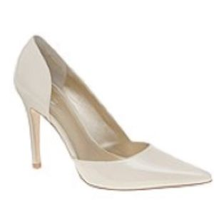 "ALDO Chalksound 4"" Patent Leather Heels (Ivory)"